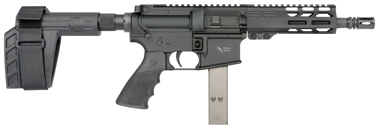 Rock River Arms 9MM2132 LAR-9 A4 9mm Luger 7in. Black Hogue Rubber