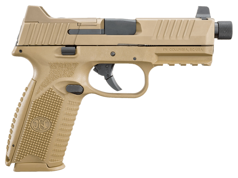 FN 66100383 FN 509 Tactical 9mm Luger Double 4.5 10+1 Flat Dark Earth Interchangeable Backstrap Grip Flat Dark Earth Stainless Steel in.