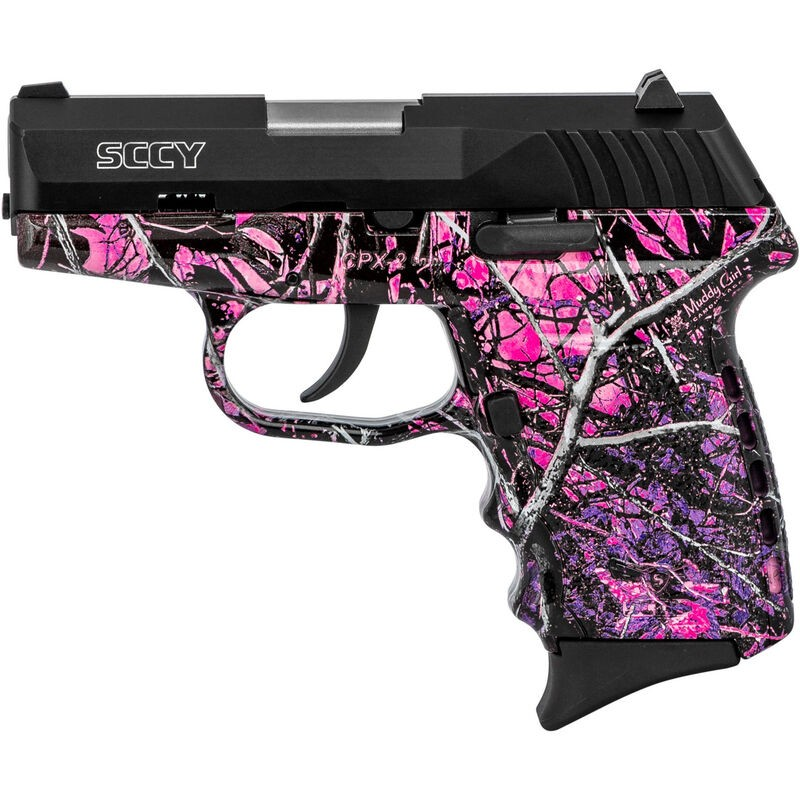 SCCY Industries CPX2CBMH CPX-2 Carbon 9mm Luger Double 3.10in. 10+1 Mud Gloss Polymer Grip Black SS Slide