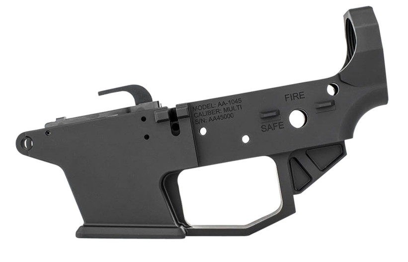 Angstadt Arms AA1045LRBA 1045 Lower Receiver AR-15 Platform 45ACP 7075 T6 Aluminum Black Hardcoat Anodized