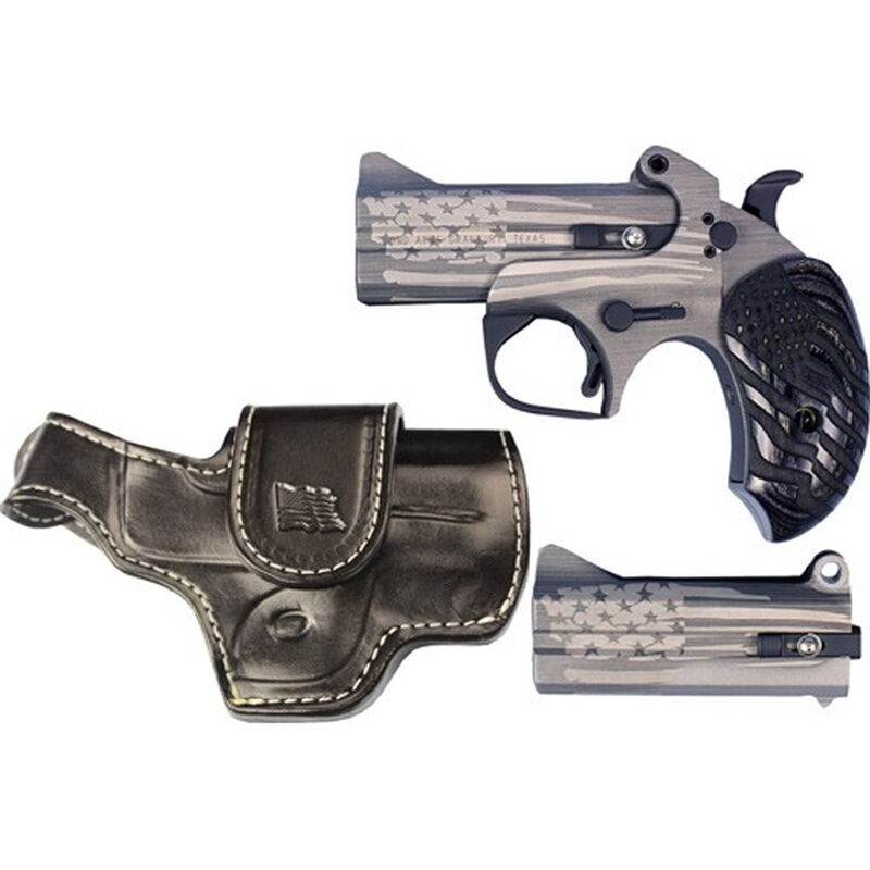 Bond Arms BAOGP2 Old Glory Package 2 38 Special/357 Mag 410/45 Colt (LC) Derringer American Flag Stainless Steel Cerakote