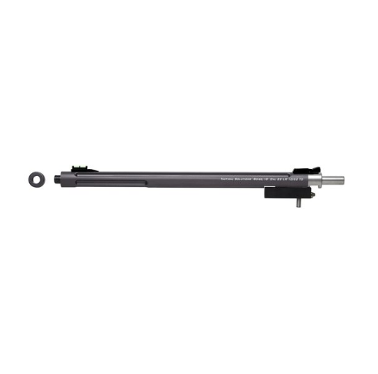 Tactical Solutions 1022TDGMG X-Ring Takedown 22 Long Rifle (LR) 16.5 Fluted Bull Gunmetal Gray with Sights in.