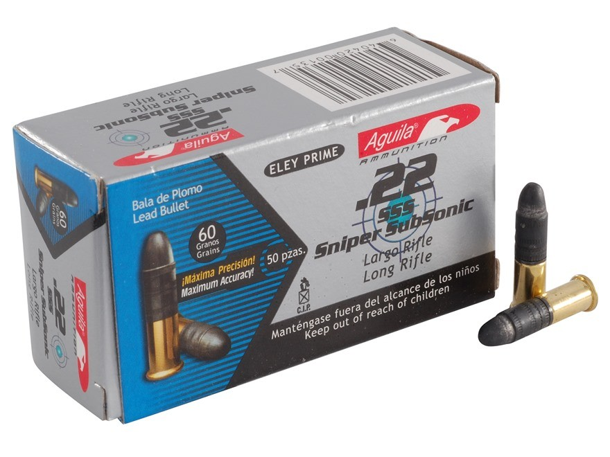 Aguila Sniper Subsonic 22 Long Rifle 50rd Ammo