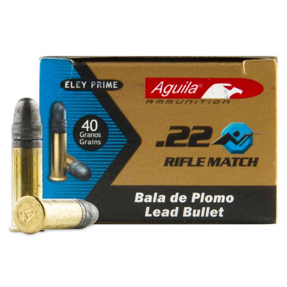 Aguila 22 Rifle Match Competition 22 Long Rifle 50rd Ammo