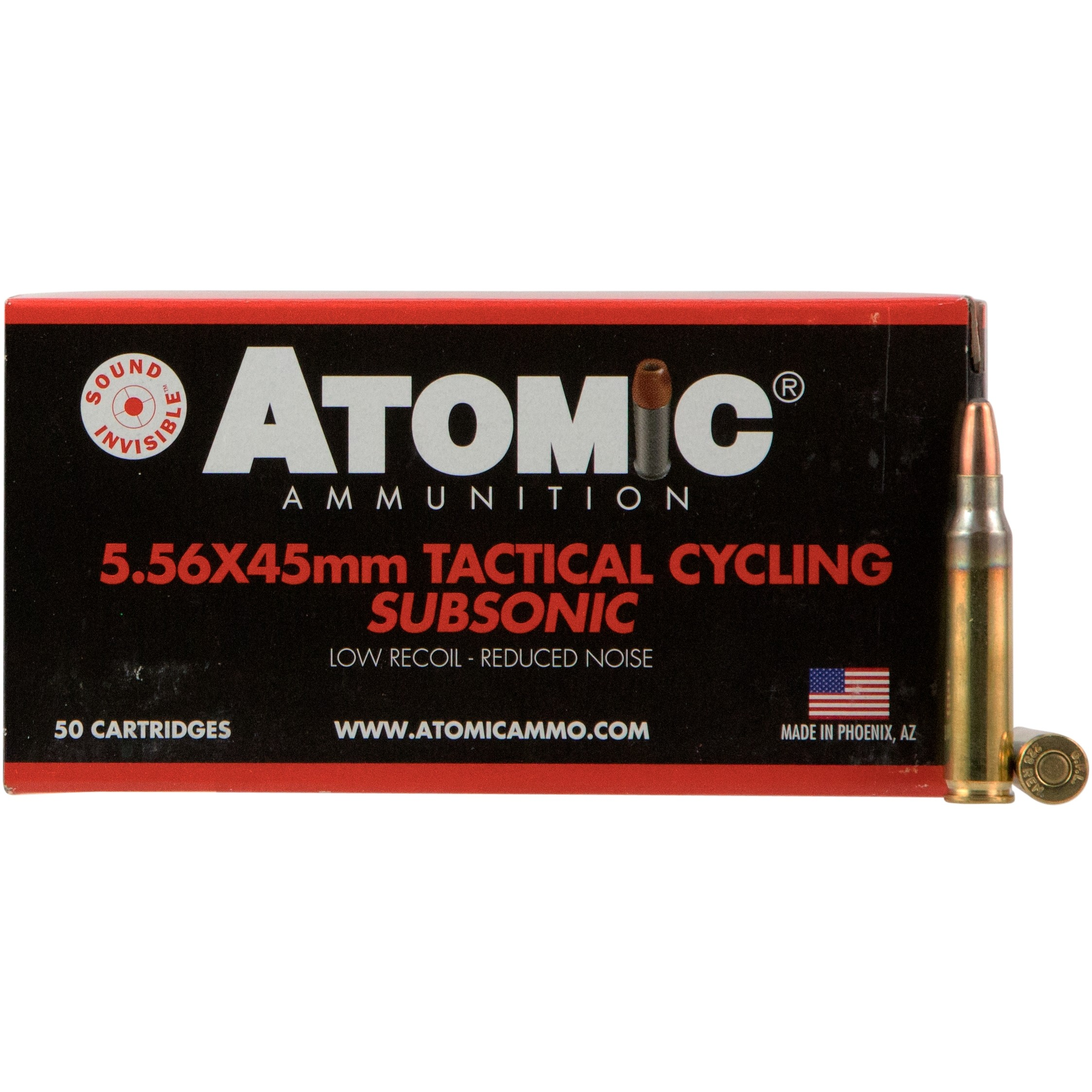Atomic Subsonic 5.56x45mm NATO 50rd Ammo