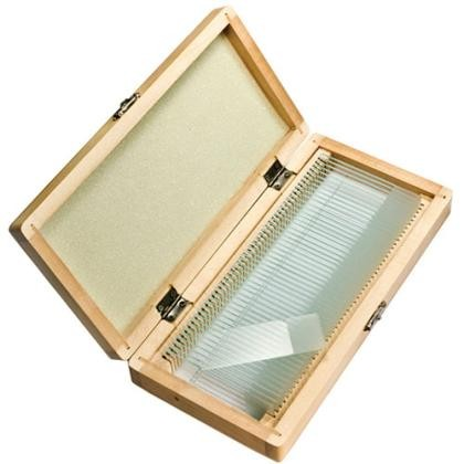 Barska 50 Prepared Microscope Slides w/ Wooden Case