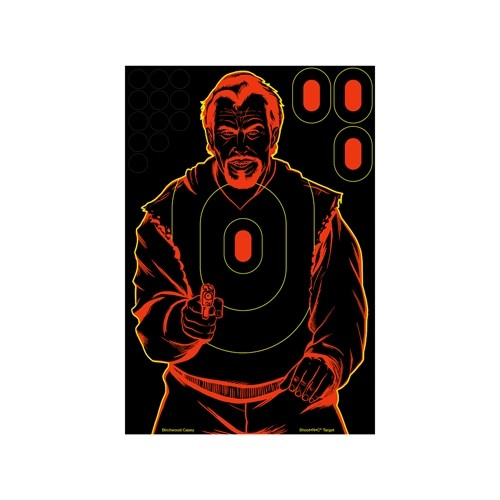 "Birchwood Casey Shoot N C 12"" x 18"" Bad Guy Target"
