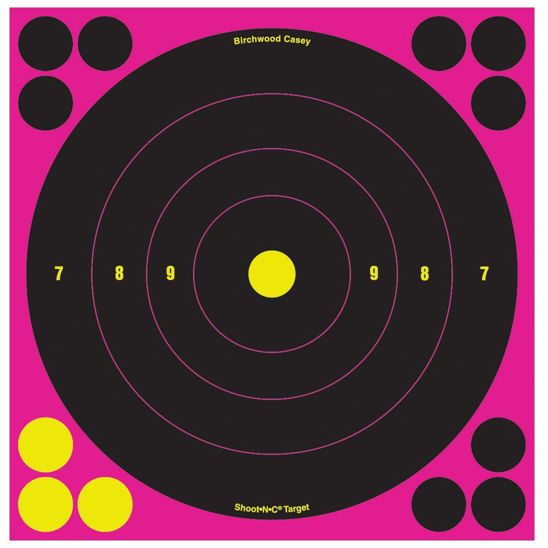 "Birchwood Casey Shoot N C 8"" Pink Bull's-eye Target"