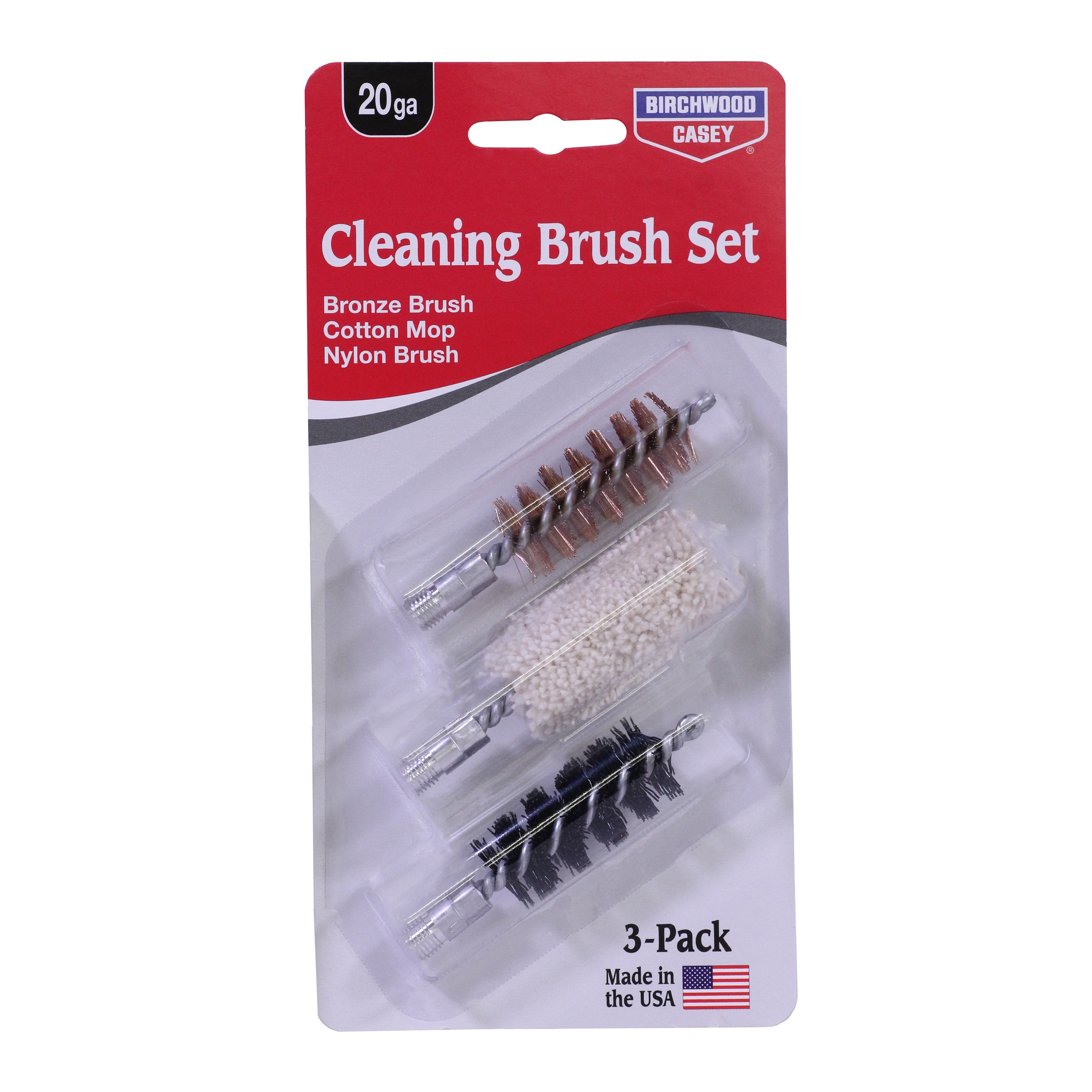 Birchwood Casey Bronze, Cotton & Nylon Cleaning Combo Pack
