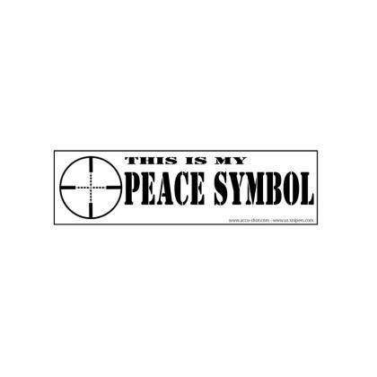 Buy Bt This Is My Peace Symbo Bumper Stickers At Swfa