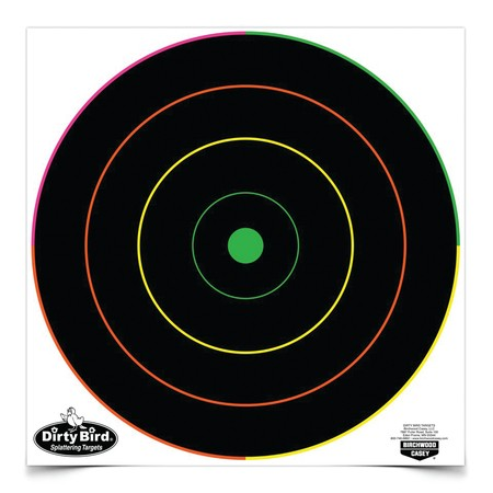 "Birchwood Casey Dirty Bird 12"" Multi-Color Bull's-eye Target"