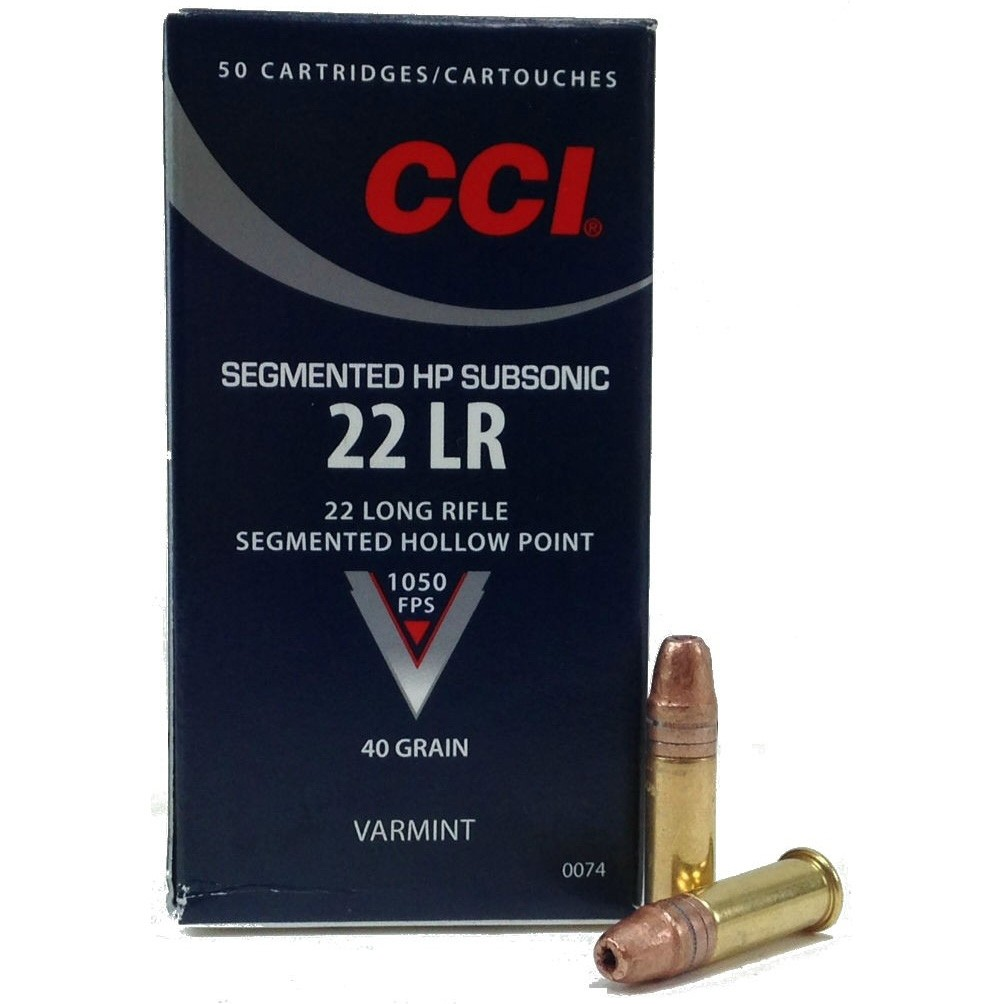 CCI Segmented Hollow Point 22 Long Rifle 50rd Ammo