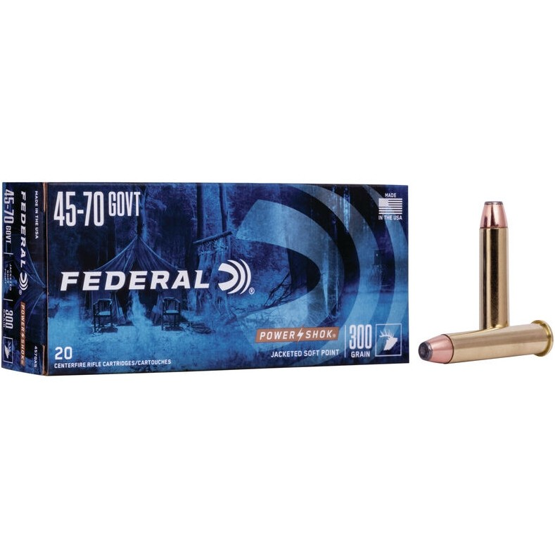Federal Power-Shok Rifle 45-70 Government 20rd Ammo