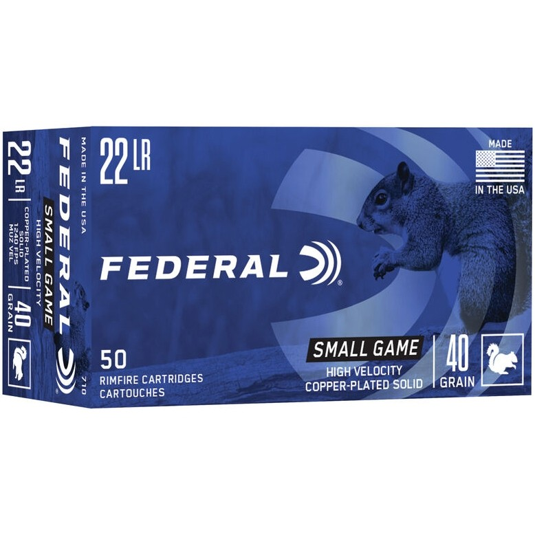 Federal Game-Shok Small Game 22 Long Rifle 50rd Ammo