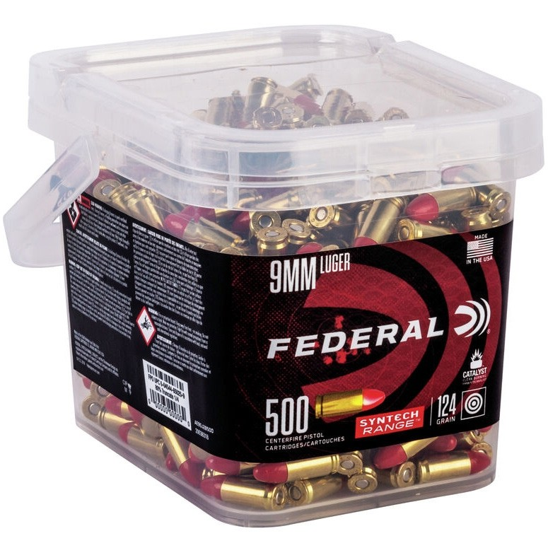 Federal Syntech Range 9mm Luger 500rd Ammo