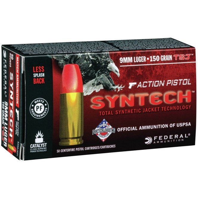 Federal Syntech 9mm Luger 50rd Ammo
