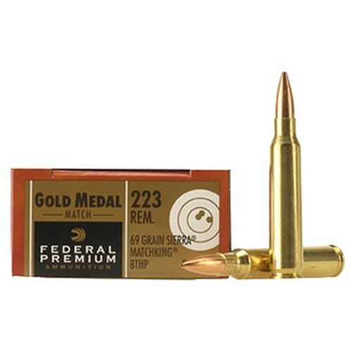 federal gold medal 223 remington 20rd ammo