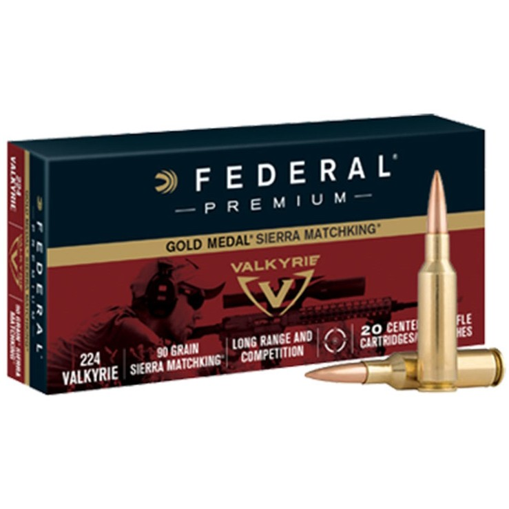 Federal Gold Medal 224 Valkyrie 20rd Ammo