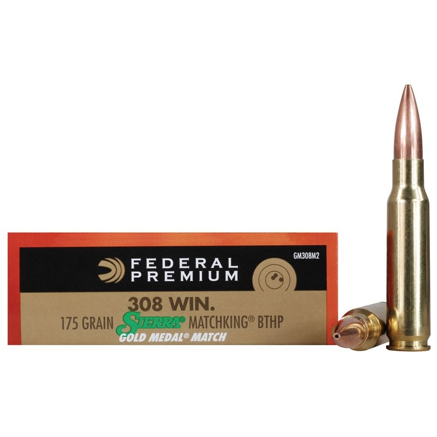 Federal Gold Medal 308 Winchester 20rd Ammo
