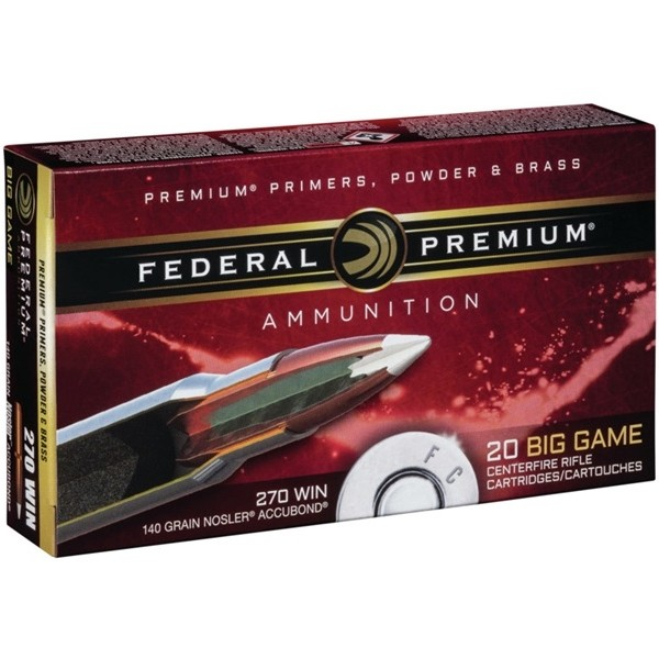 Federal Nosler 270 Winchester 20rd Ammo