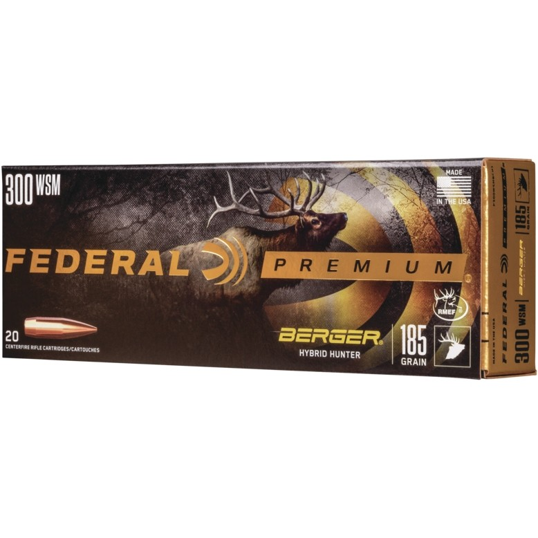 Federal Berger 300 Winchester Short Magnum 20rd Ammo