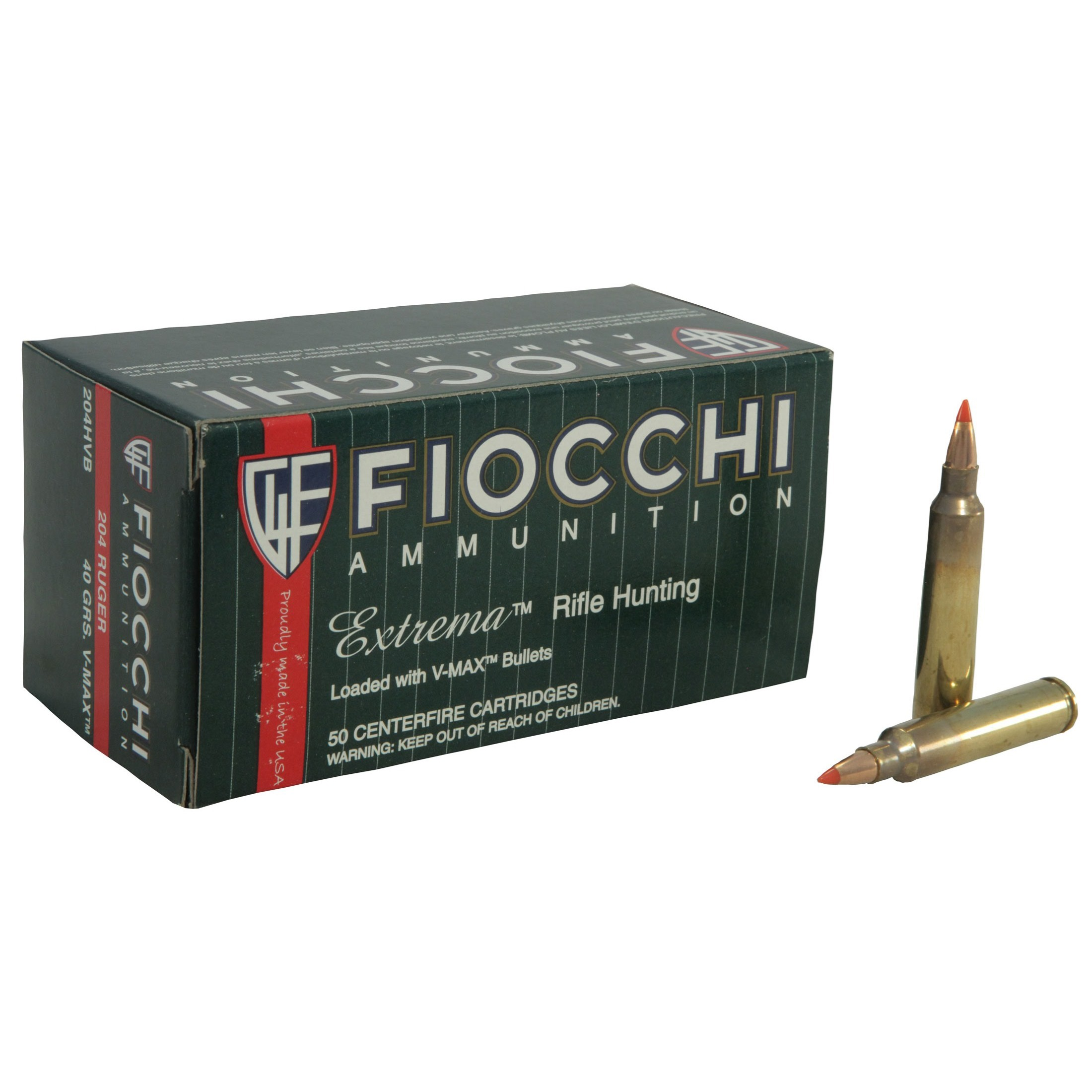 Fiocchi Extrema 204 Ruger 50rd Ammo