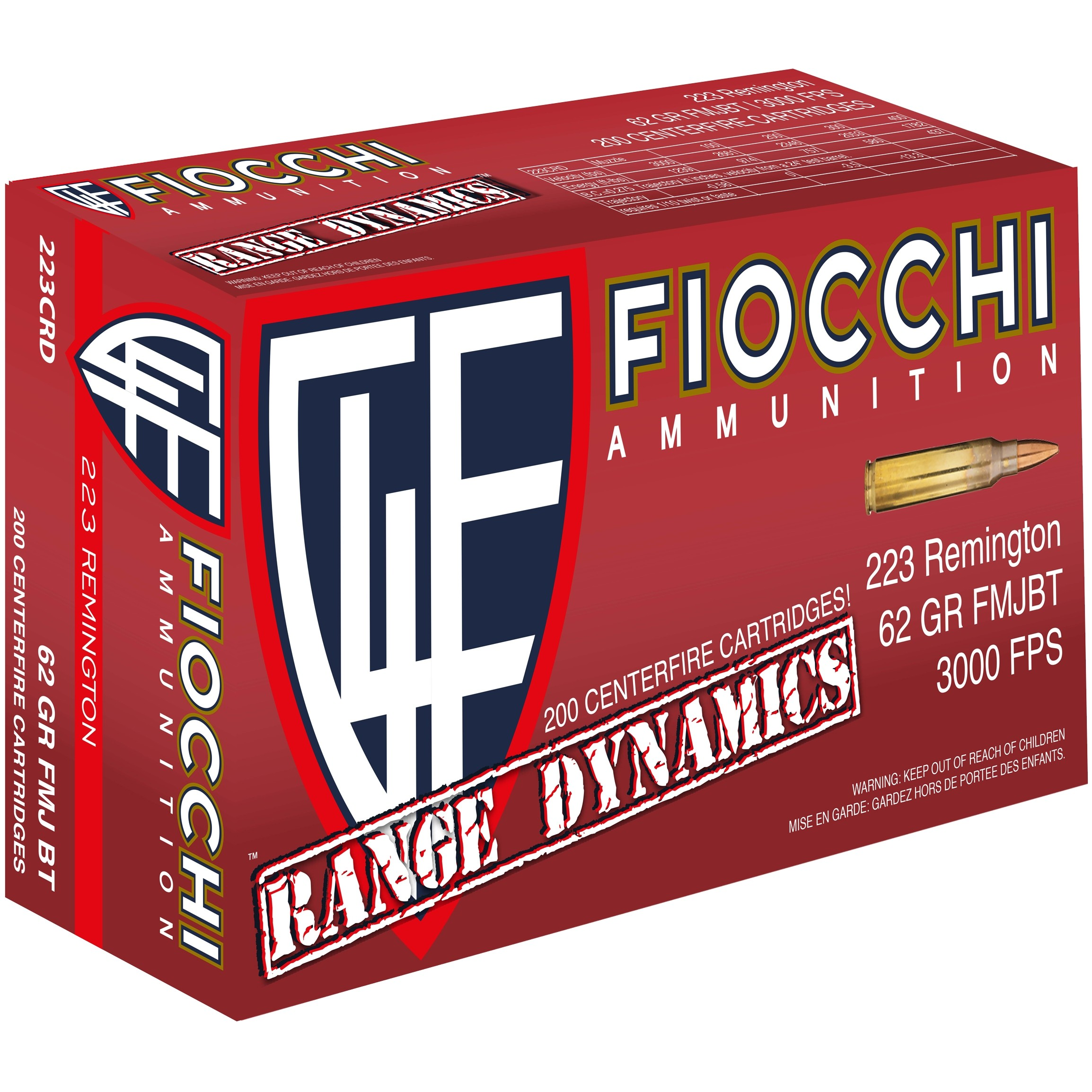 Fiocchi Range Dynamics 223 Remington 1000rd Ammo