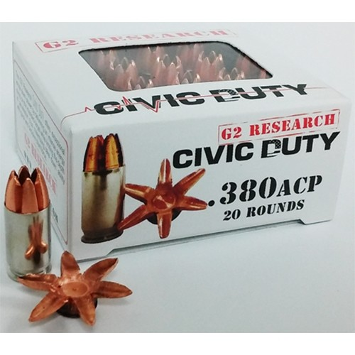 G2 Research Civic Duty 380 ACP 20rd Ammo