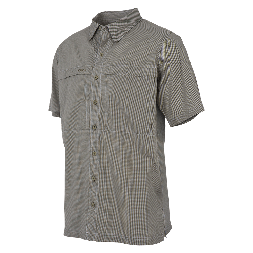 GameGuard Men's Olive MicroCheck Shirt