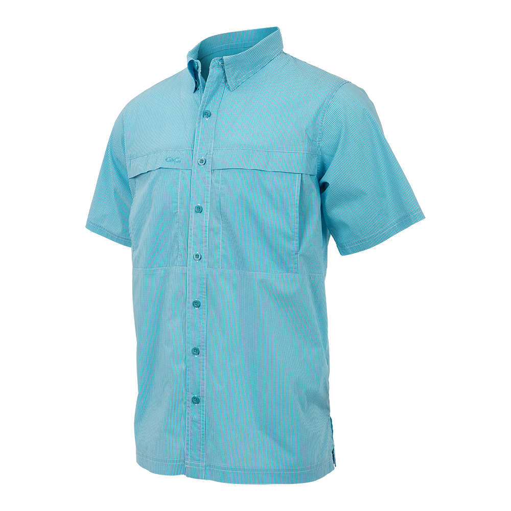 GameGuard Men's River Blue MicroCheck Shirt