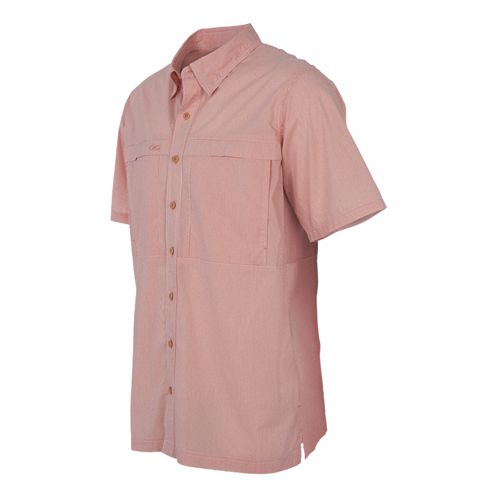GameGuard Men's Salmon MicroCheck Shirt