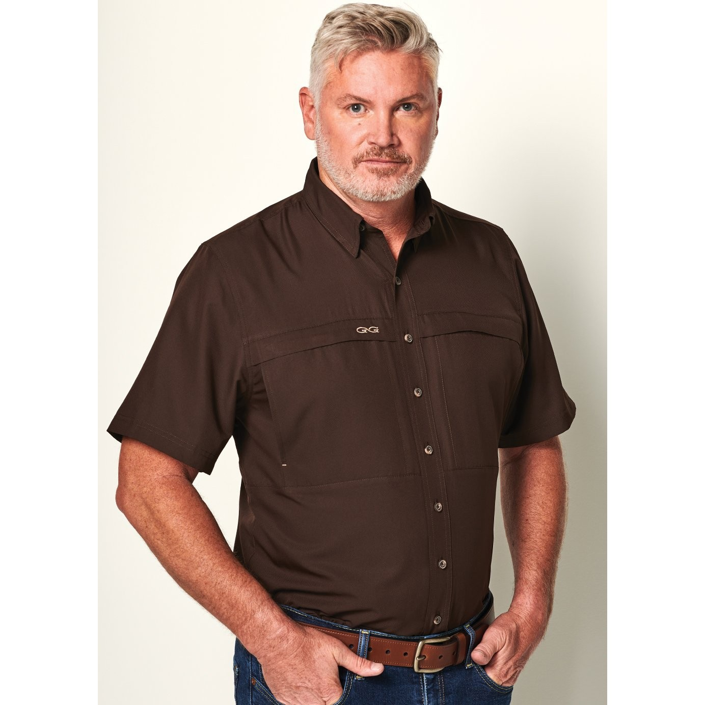 GameGuard Men's Chocolate MicroFiber Shirt
