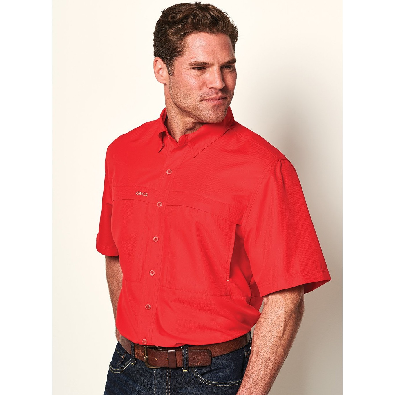 GameGuard Men's Red MicroFiber Shirt