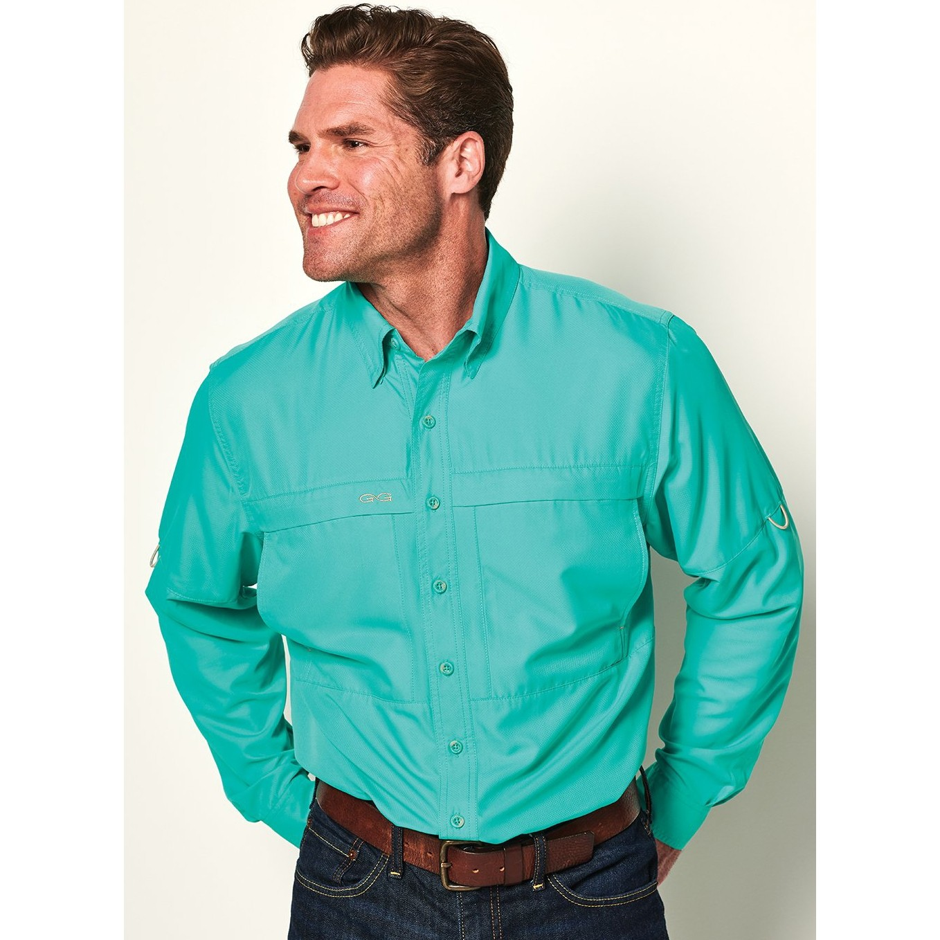 GameGuard Men's Caribbean MicroFiber Long Sleeve Shirt