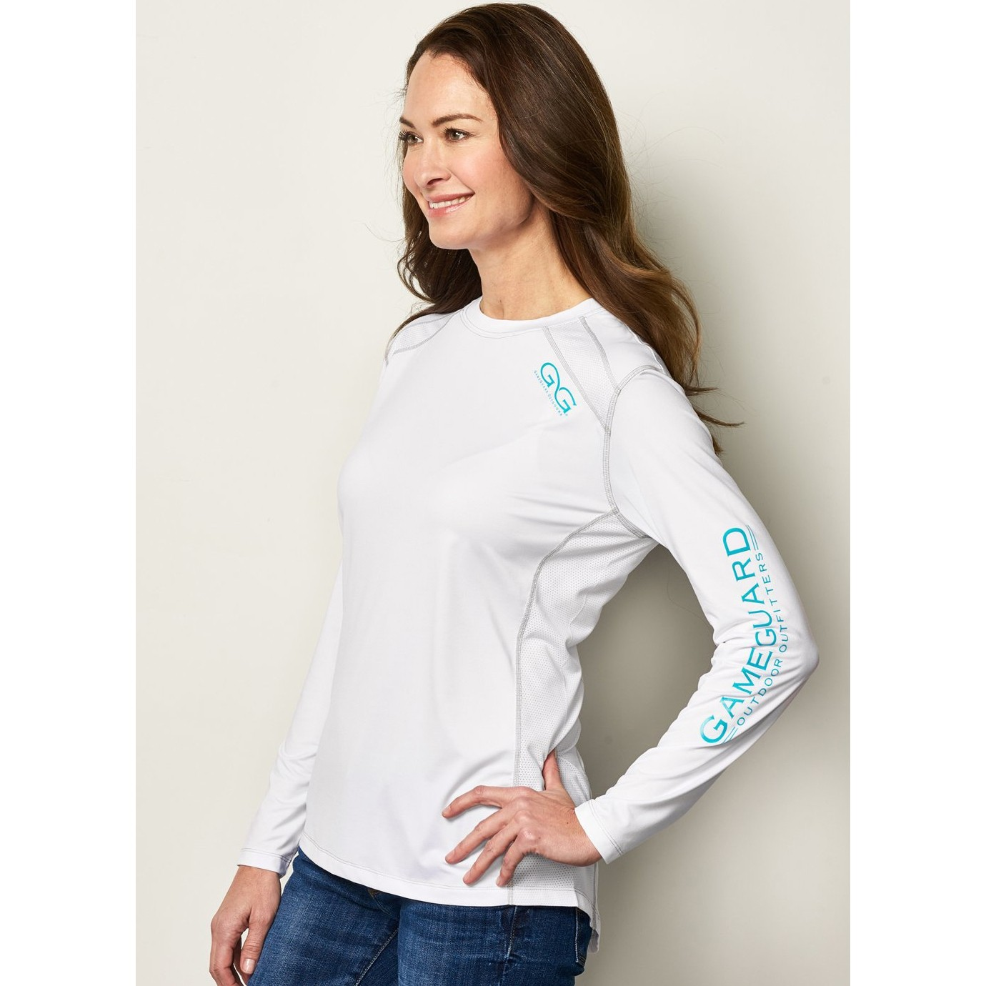 GameGuard Ladies' White Long Sleeve Performance Tee