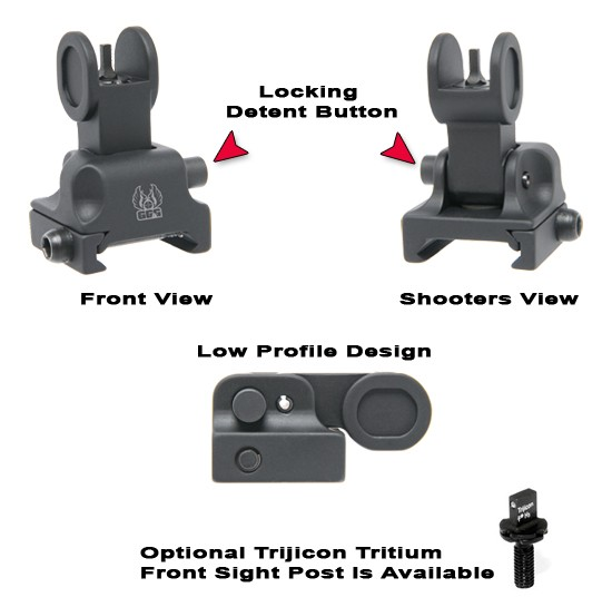 GG&G Flip Up Front Tactical Sight for Tactical Forearms