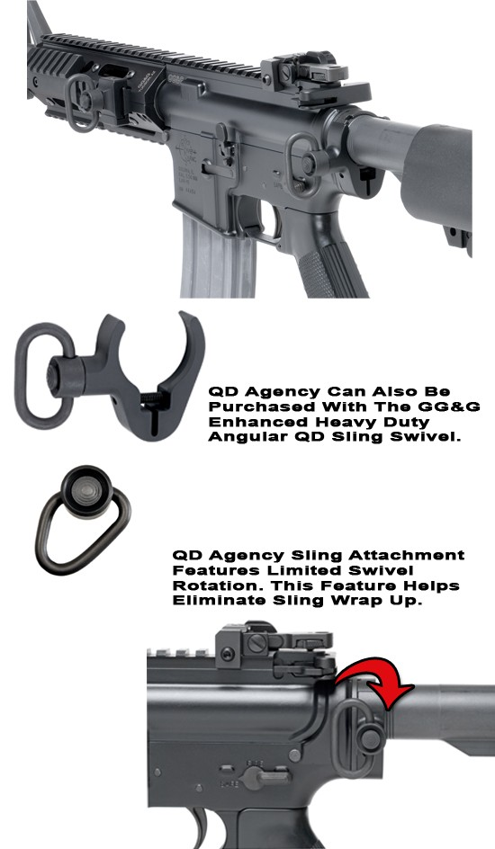 GG&G Quick Detach Agency Rear Sling Attachment