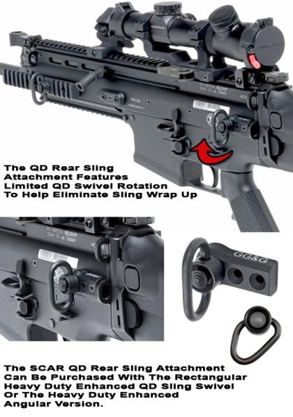 GG&G SCAR Quick Detach Rear Sling Attachment