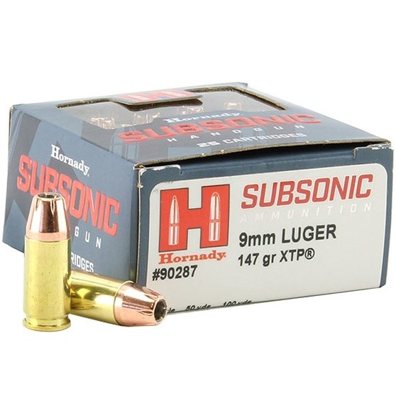 Hornady Subsonic 9mm Luger 25rd Ammo