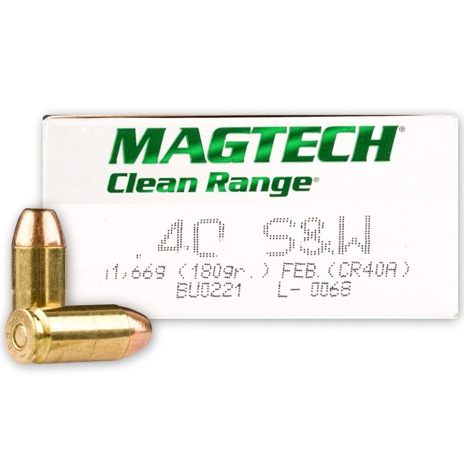 Magtech Clean Range 40 Smith & Wesson 50rd Ammo