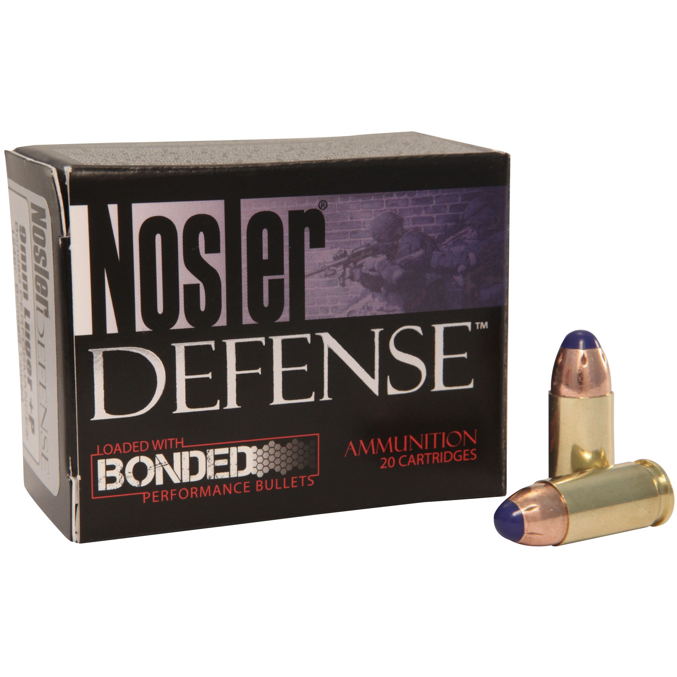 Nosler Defense Handgun 9mm Luger 20rd Ammo