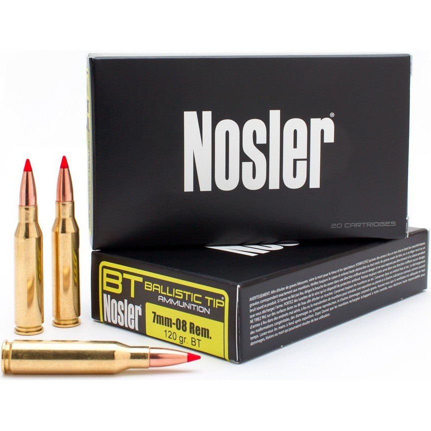 Nosler Ballistic Tip 7mm-08 Remington 20rd Ammo