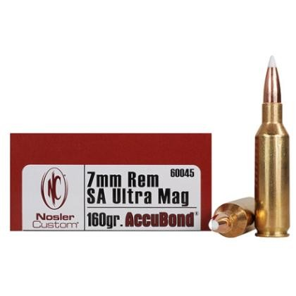 Nosler Trophy Grade 7mm Rem Short Action Ultra Mag 20rd Ammo