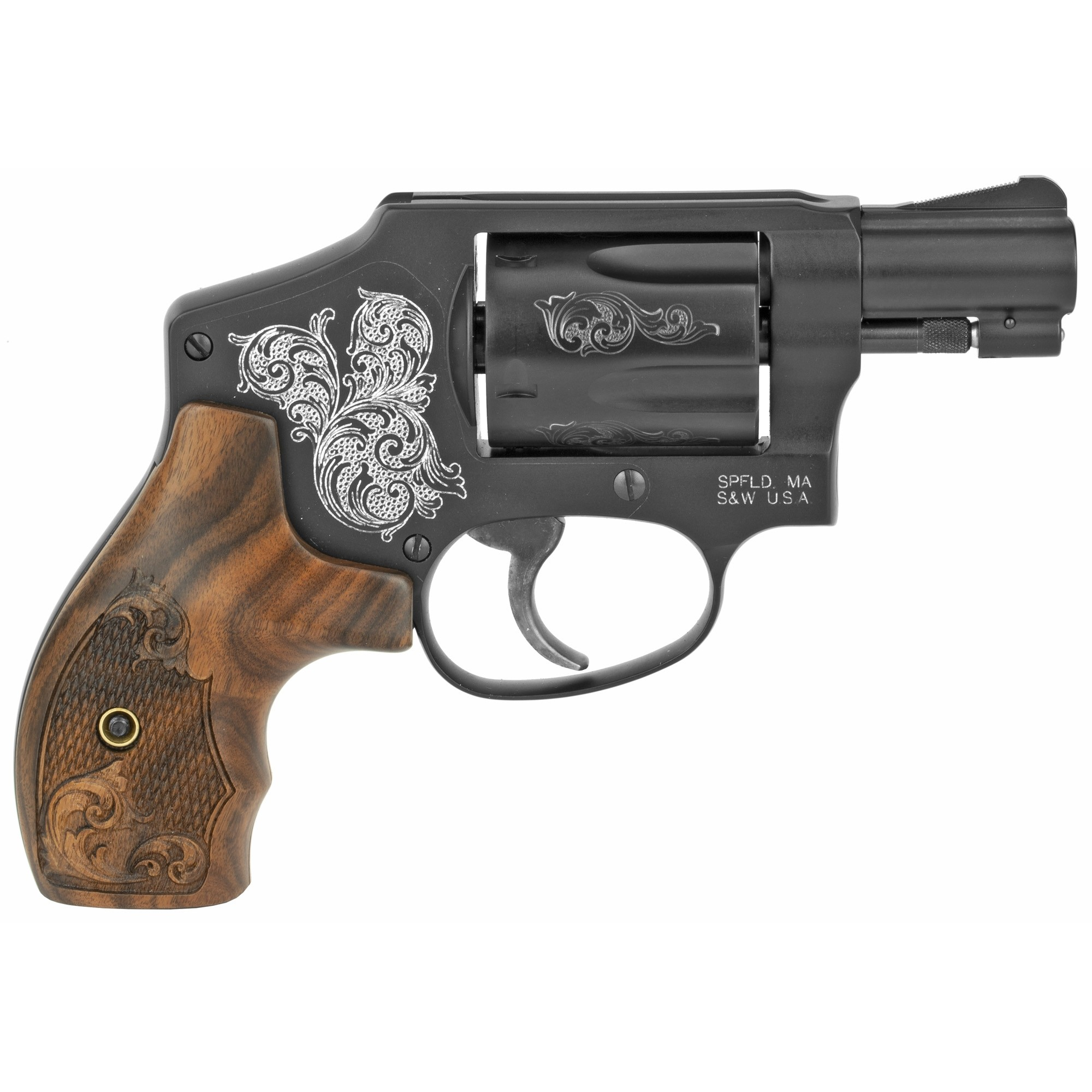 Smith & Wesson Model 442 Engraved 38 Special +P Revolver