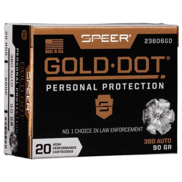 Speer Gold Dot Personal Protection 380 ACP 20rd Ammo