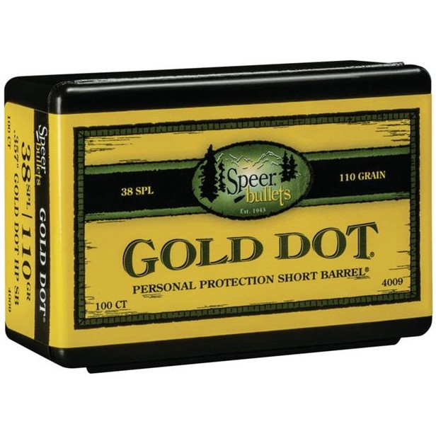 Speer Gold Dot 38 Special 100rd Bullet