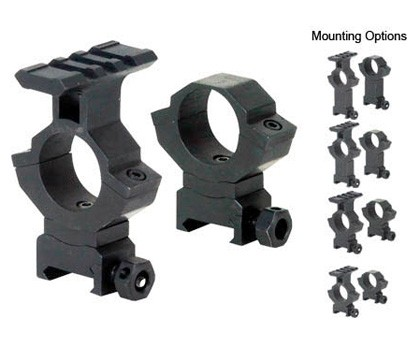 "BSA Adjustable Tactical 1"" Rings"