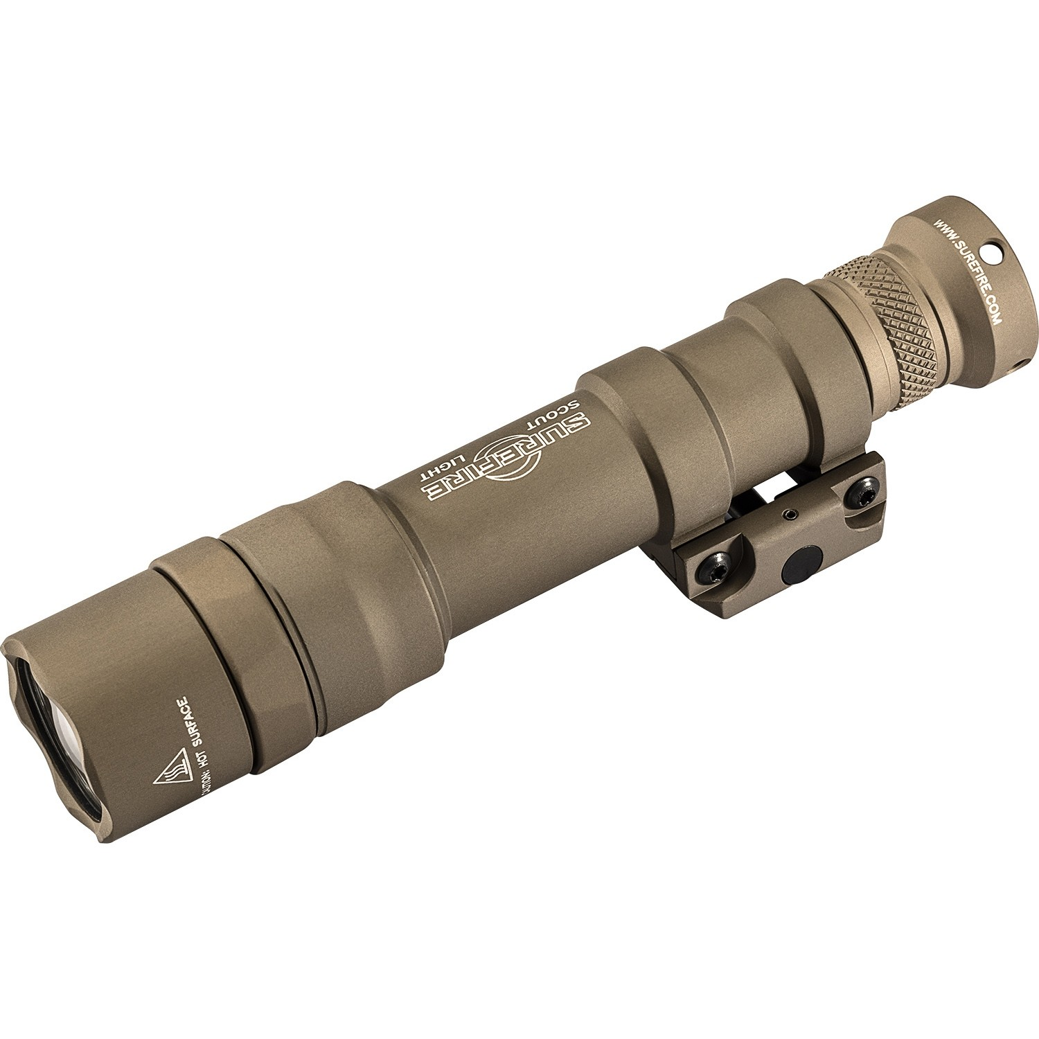 Hiking Role Playing DE War Games WADSN Airsoft Tactical Torch M600DF Type Dual Fuel 1400 Lumens LED Scout Light with Button Switch and Pressure Switch Picatinny Rail Mount for Camping