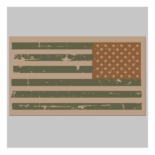 United States Tactical Reverse USA Combat Flag Sticker