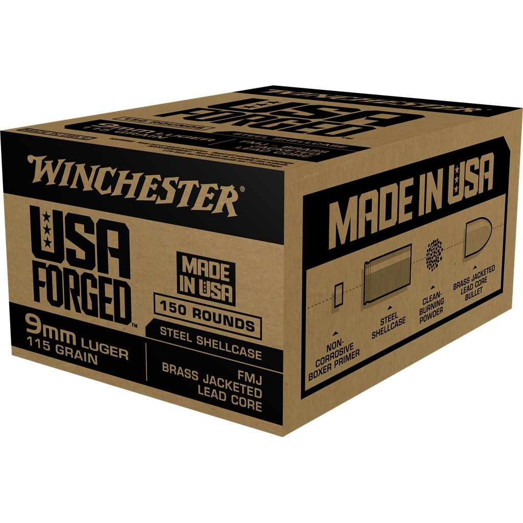 Winchester USA Forged 9mm Luger 150rd Ammo
